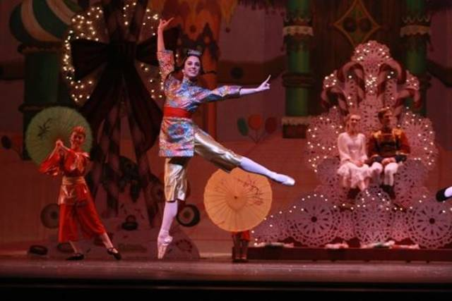 "Oklahoma City Ballet's Ellany Abbott appears in costume as one of the Chinese dancers in ""The Nutcracker."" Photo by Rocky Chen."