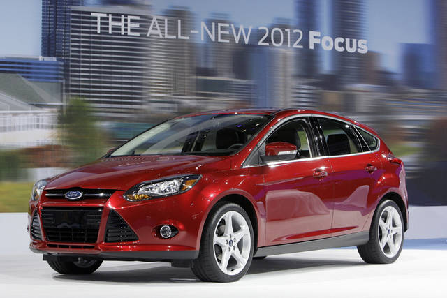 The 2012 Ford Focus is shown during its debut at the LA Auto Show in Los Angeles. AP File Photo