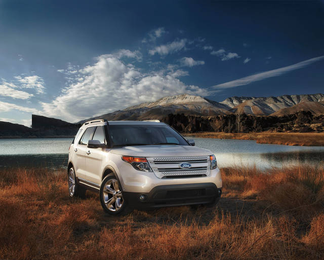 This undated photo provided by the Ford Motor Company shows the 2013 Ford Explorer. No longer a truck-based sport utility vehicle, the Explorer rides comfortably and is generously sized, with noticeable roominess width-wise. (AP Photo/Ford Motor Company)