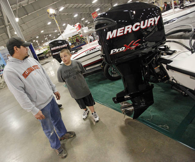 during the 2011 Oklahoma City Winter Boat Show at State Fair Park in Oklahoma City, Thursday, January 27, 2011. Photo by Nate Billings, The Oklahoman