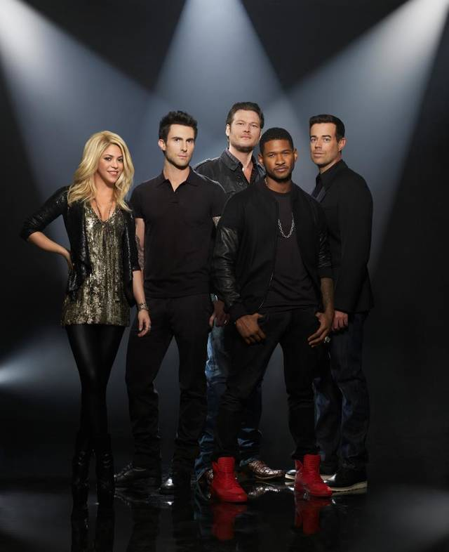 """The Voice"" Season 4 coaches and host Carson Daly"
