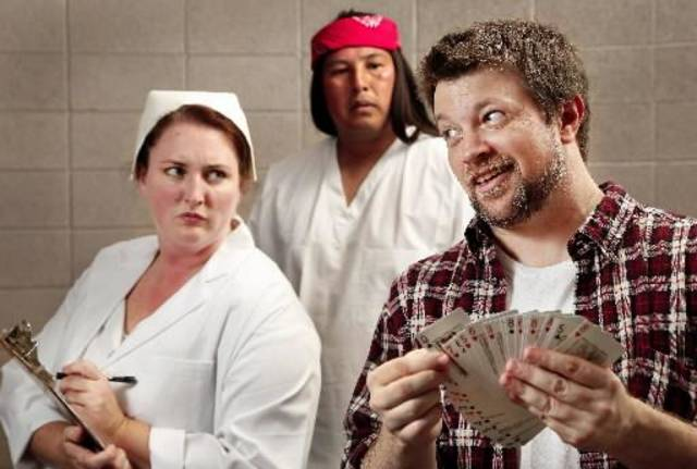 """From left, Emily Etherton, Ace Greenwood and Christopher Rodgers are shown in this publicity photo for """"One Flew Over the Cuckoo's Nest, the current production at Jewel Box Theatre. Photo by Jim Beckel, The Oklahoman."""