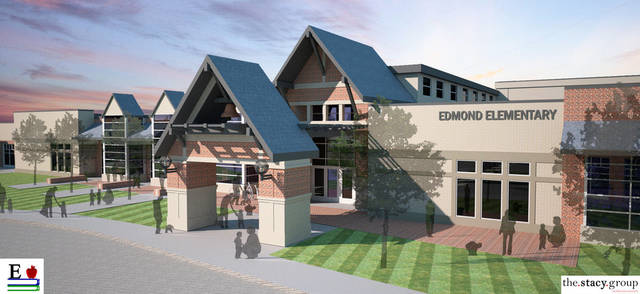 Architectural rendering of Edmond�s Heritage Elementary School, scheduled to open in the fall of 2014.  Image provided