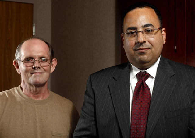 Dr. Hany Elbeshbeshy and Hepatitis C patient John Poppell pose for a photo at INTEGRIS Baptist, Friday, June 10, 2011. Photo by Sarah Phipps, The Oklahoman