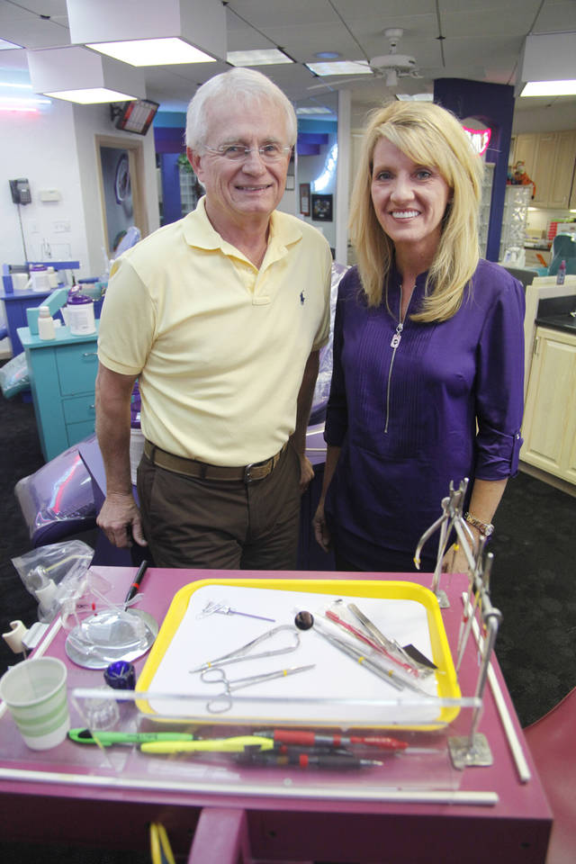 Dr. J. Michael Steffen and Dr. Melissa L. Farrow are orthodontists at The Brace Place in Edmond. <strong>Steve Gooch - The Oklahoman</strong>