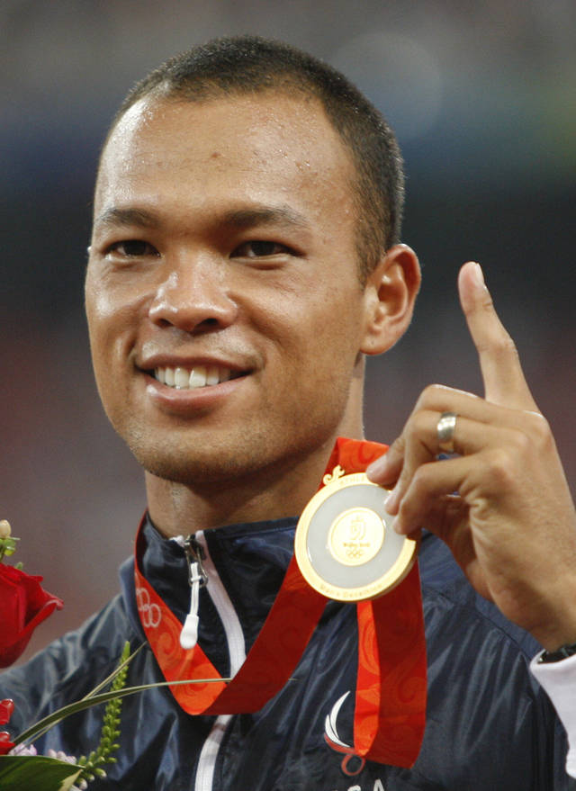 Bryan Clay, a gold  medalist from the 2008 Beijing Games. AP PHOTO