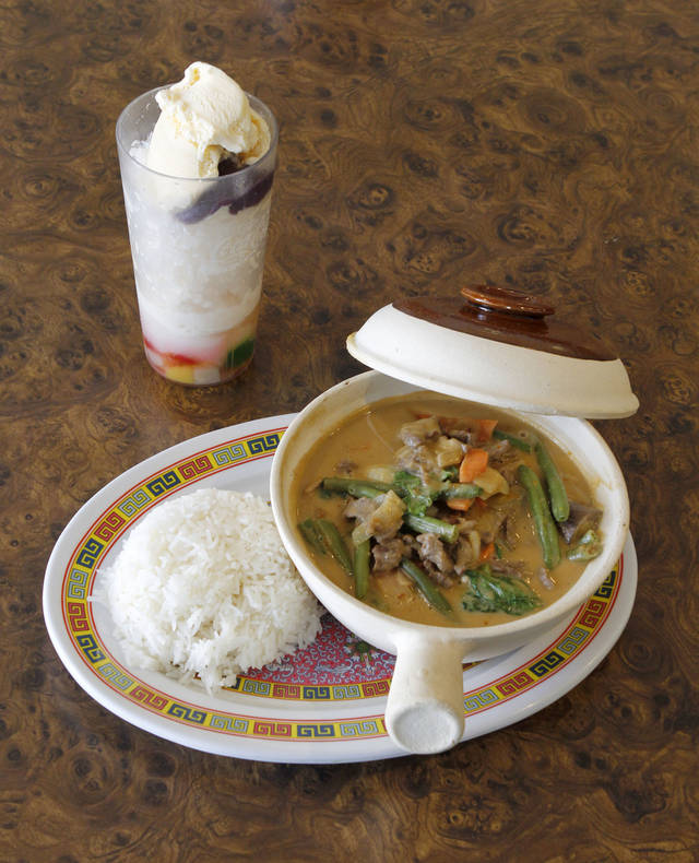 This is the Filipino dish Kare Kare, served at Evelyn's Asian Table in Oklahoma City, OK, Thursday, July 5, 2012,  By Paul Hellstern, The Oklahoman