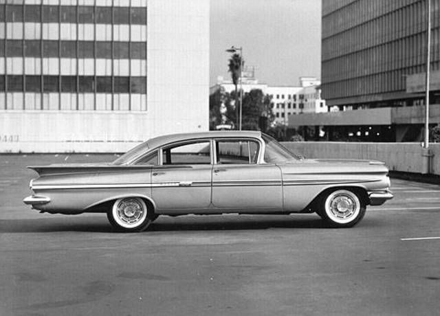 This is a general view of the 1959 Chevrolet Impala shown at an unknown location. (AP Photo)