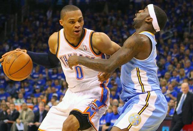 Russell Westbrook scored 36 points on Sunday / Dilip Vishwanat/Getty Images