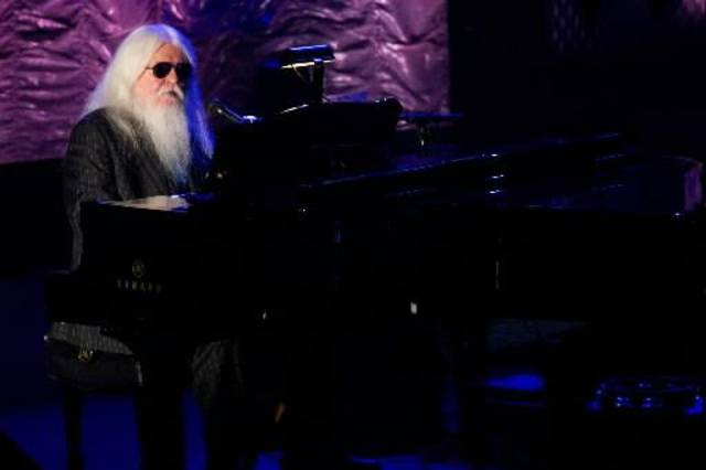 Lawton native Leon Russell performs at at the 42nd Annual Songwriters Hall of Fame Awards in New York, Thursday, June 16, 2011. (AP Photo)