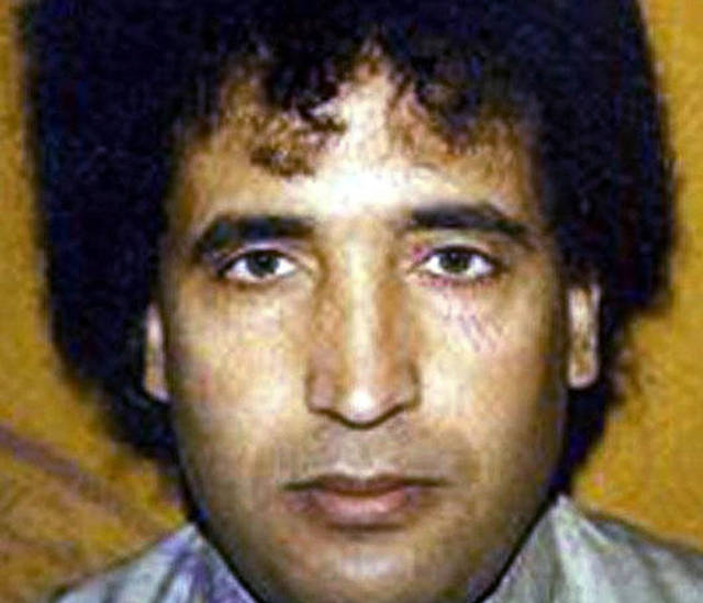 FILE - This undated file photo, issued by the British Crown Office, shows Abdel Baset al-Megrahi. A son says Al-Megrahi, the former Libyan intelligence officer who was the only person ever convicted in the 1988 bombing of a PanAm flight over Scotland that killed 270 people, has died in Tripoli, Libya. Al-Megrahi suffered from prostate cancer. His death was announced Sunday, May 20, 2012, by his son Khaled. (AP Photo/Crown Copyright, File)