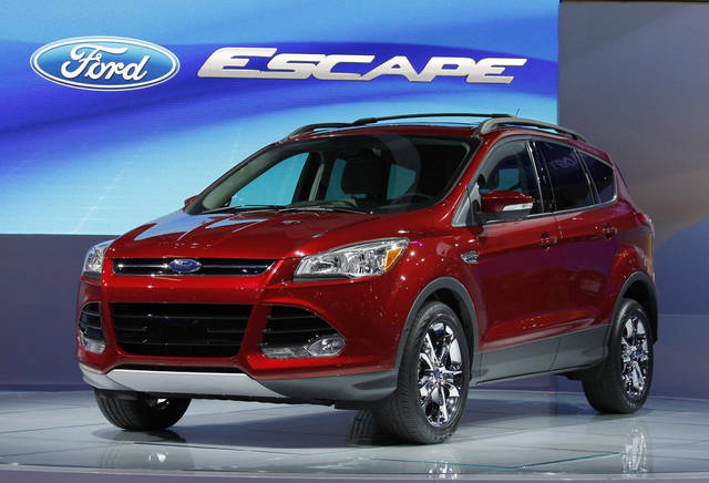 The 2012 Ford Escape makes its debut at the Los Angeles Auto Show on Nov. 16.  AP Archives Photo
