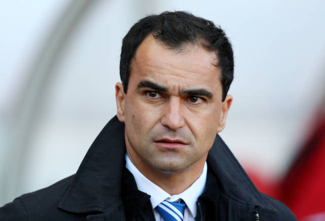 Wigan Athletic's manager Roberto Martinez looks on ahead of their English Premier League soccer match against Sunderland at the Stadium of Light, Sunderland, England, Saturday, Sept. 29, 2012. (AP Photo/Scott Heppell)