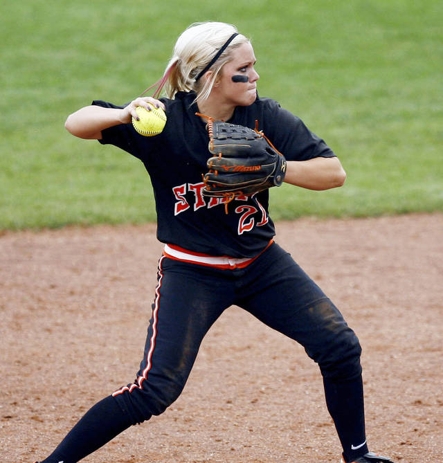 Alysia Hamilton and the Oklahoma State softball team will play in the Tucson Regional with Arizona, Hofstra and Cornell. PHOTO BY SARAH PHIPPS, THE OKLAHOMAN