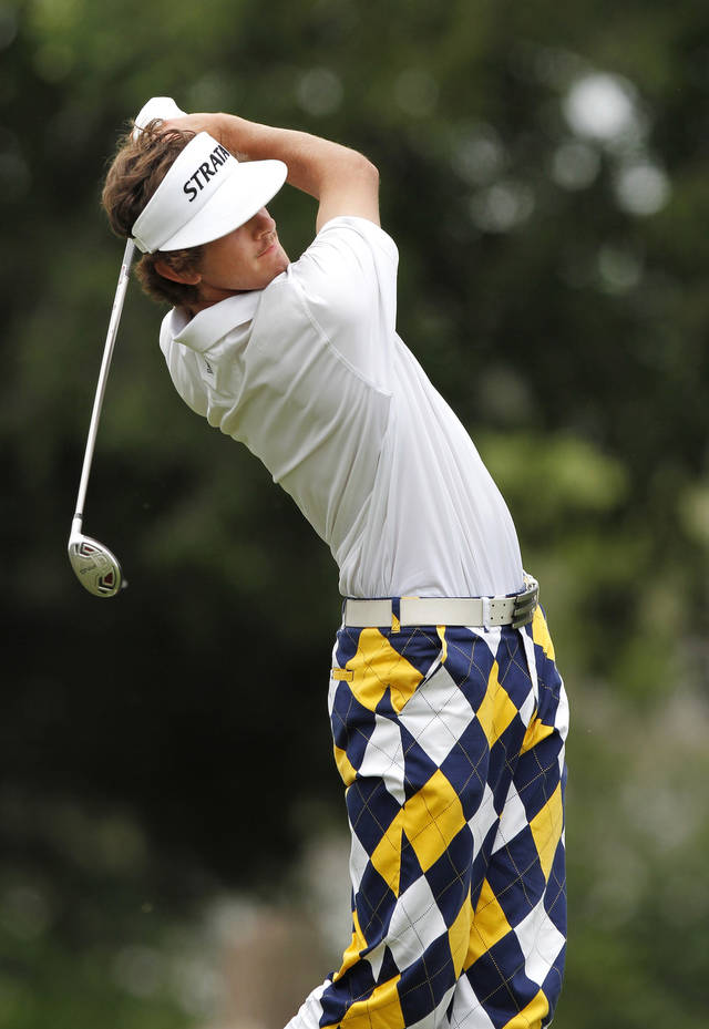 Heritage Hall golfer Trent Mewbourn during the Class 4A Boys State Golf Tournament at Lake Hefner Golf Course, Tuesday,  May 8, 2012.   Photo by Jim Beckel, The Oklahoman