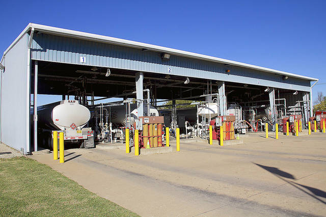Gasoline and diesel tanker trucks fill up at Magellan Midstream Partners&acirc; Tulsa Terminal. The fuel is distrubuted to gas stations throughout northeast Oklahoma. Photos by Adam Wilmoth, The Oklahoman