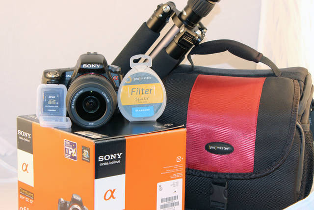 You could win a camera and accessories.