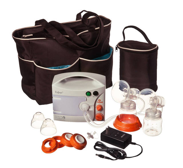 A double-electric breast pump by Hygeia, which is now available to some insured women at no cost. PHOTO PROVIDED BY HYGEIA
