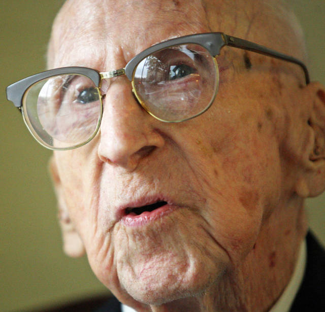 Walter Breuning, 114, was the world's oldest man when he died Thursday. AP Photo