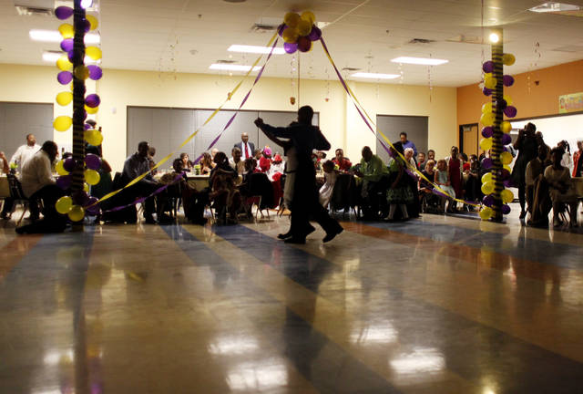 Ballroom Dance Team members from the school give a demonstration at the Daddy-Daughter Dance at Britton Elementary School in Oklahoma City Friday, Feb. 10, 2012. Photo by Doug Hoke, The Oklahoman