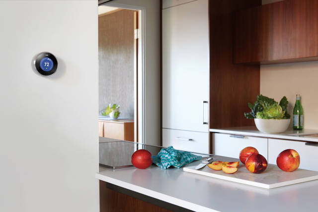 The Nest thermostat can fit with the design of any home. PHOTO PROVIDED. <strong></strong>
