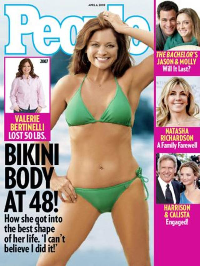 Valerie Bertinelli shows off her new body on the cover of People.