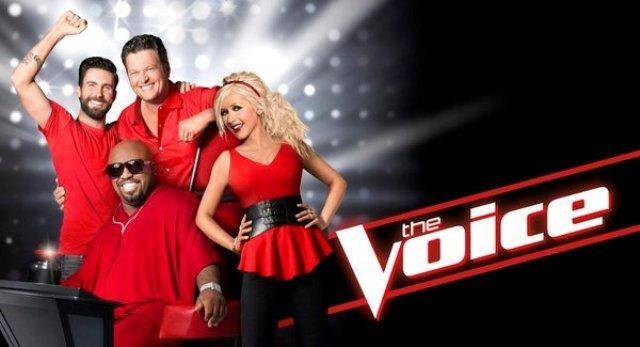 "THE VOICE -- Pictured: (l-r) Adam Levine, CeeLo Green, Blake Shelton, Christina Aguilera; ""The Voice"" Key Art -- (Photo by: NBC)"