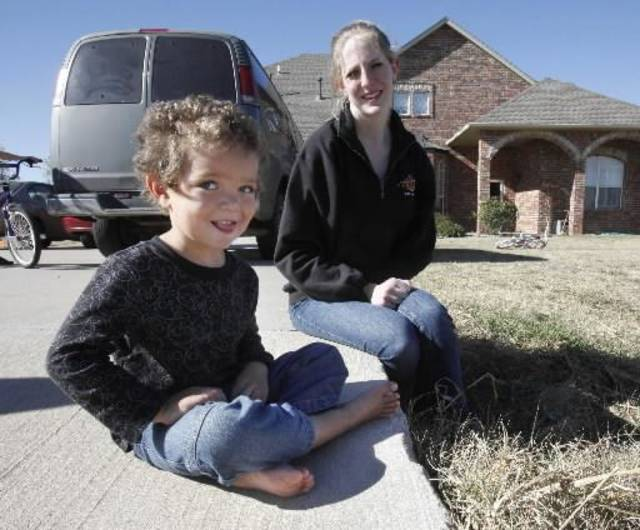 Ashley Warden was ticketed by police after her 3-year-old son son, Dillan, tried to urinate in their front yard in Piedmont. Photo by Paul Hellstern