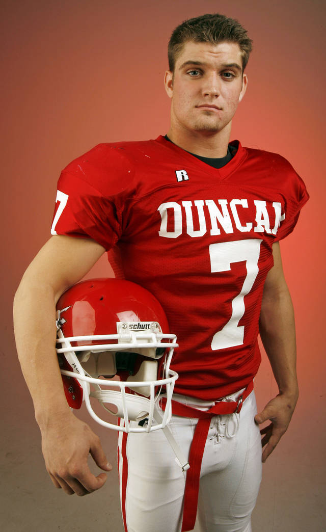 Trent Wilkins, Duncan, poses for a photo in the OPUBCO studio for The Oklahoman's All-State Football Team, in Oklahoma City, Wednesday, Dec. 12, 2007. By Nate Billings, The Oklahoman