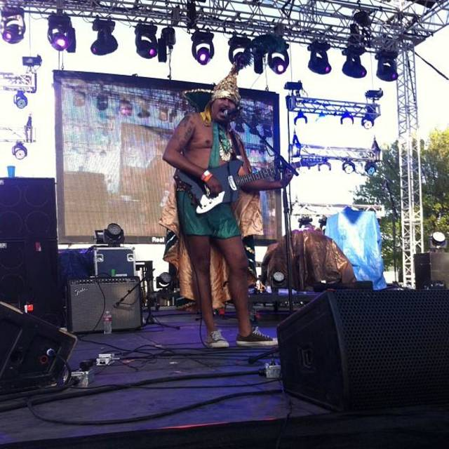 king kahn and the bbq show! #normanmusicfestival #nmf #rockandroll #getdown #kingkahnandthebbqshow (From Statigram.com)