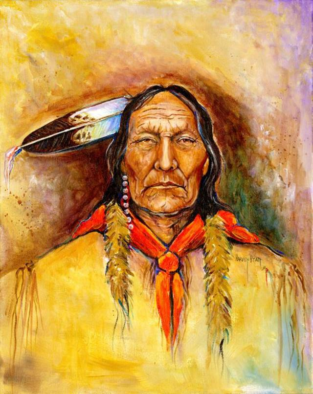 """Chief Magpie"" by Harvey Pratt. <strong></strong>"