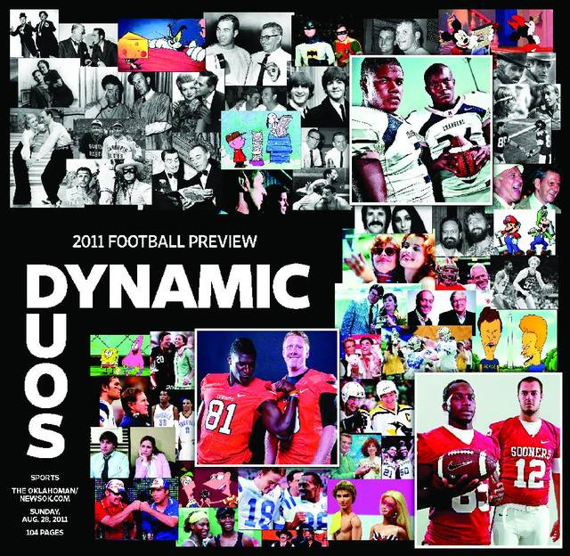 "2011 football preview cover: ""Dynamic Duos"""