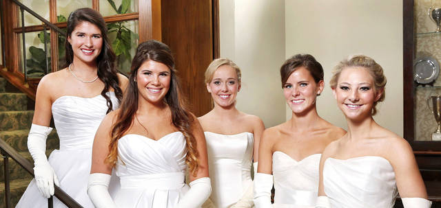 From left, Madeline Patricia Coffey, Sara Frances Roush, Molly Rose Marso, Bailey Shannon Self and Delaney Elyse Robinson. Photos by Jim Beckel, The Oklahoman
