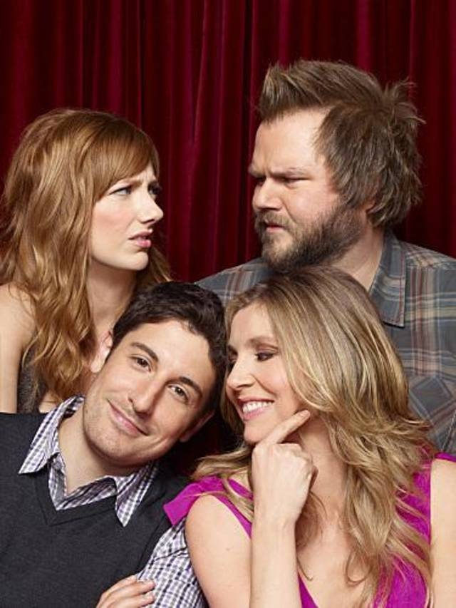 MAD LOVE -- a comedy about a quartet of New Yorkers - two who are falling in love and another two who despise each other (at least for now).  MAD LOVE will premiere Monday, Feb. 21, (8:30 PM ET/PT) on the CBS Television Network.   Clockwise from bottom left: Jason Biggs as Ben Parr, Judy Greer as Connie Grabowski, Tyler Labine as Larry Munsch and Sarah Chalke as Kate Swanson. Photo: Matthias Clamer/CBS 2010 CBS Broadcasting Inc. All Rights Reserved