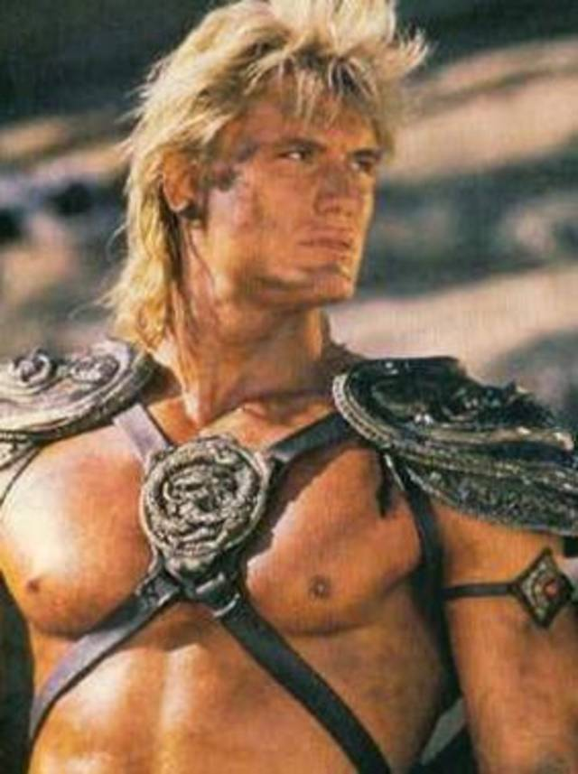 Dolph Lundgren as He-Man in the 1987 Masters of the Universe film