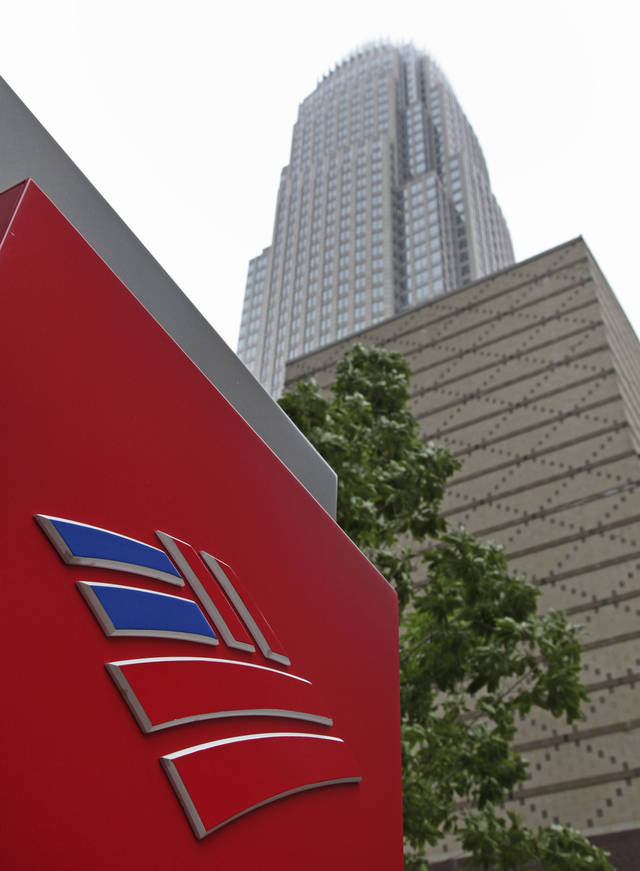 Bank of America's corporate headquarters is shown in Charlotte, N.C.  AP Photo