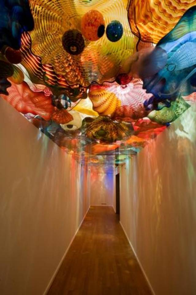 "The ""Oklahoma Persian Ceiling"" is a focal point of ?Illuminations: Rediscovering the Art of Dale Chihuly"" at the Oklahoma City Museum of Art. Photo provided by the Oklahoma City Museum of Art."