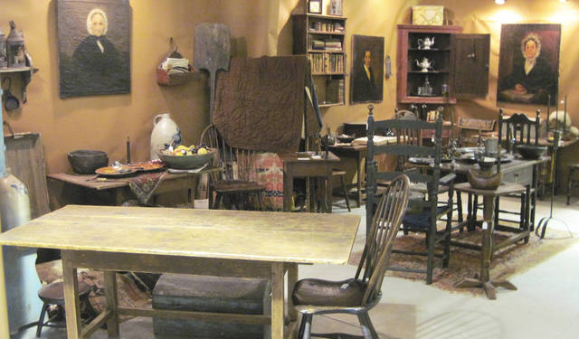 The people of Harper Antiques from Pasadena, Texas, shop in New England to maintain their collection and inventory. At the Winter Antiques Show in Round Top, Texas, they will have antiques that have never before been offered in the Texas market. PHOTO PROVIDED