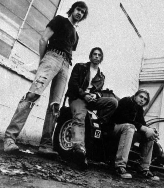 This 1991 file photo shows the band Nirvana, from left, Krist Novoselic, Dave Grohl, and Kurt Cobain. Nirvana will be inducted into the 2014 Rock and Roll Hall of Fame on April 10, 2014, at the Barclays Center in New York. (AP)