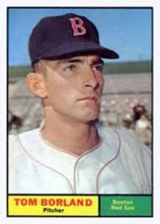 Tom Borland, with the Boston Red Sox.