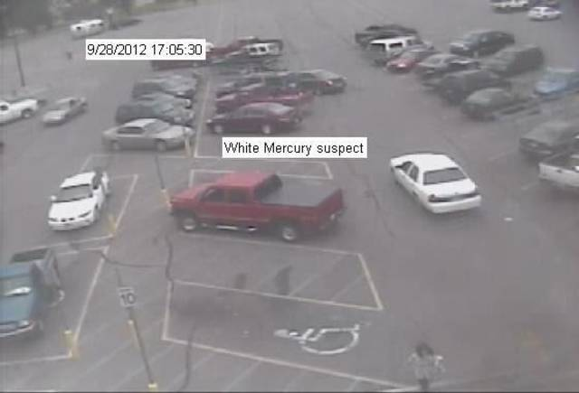 A man robbed a City National Bank Friday afternoon inside a Walmart, 2400 S Country Club Road in El Reno, the FBI reports. He drove away in a 1998 to 2002 white Mercury Marquis. <strong> - Photo provided by FBI</strong>