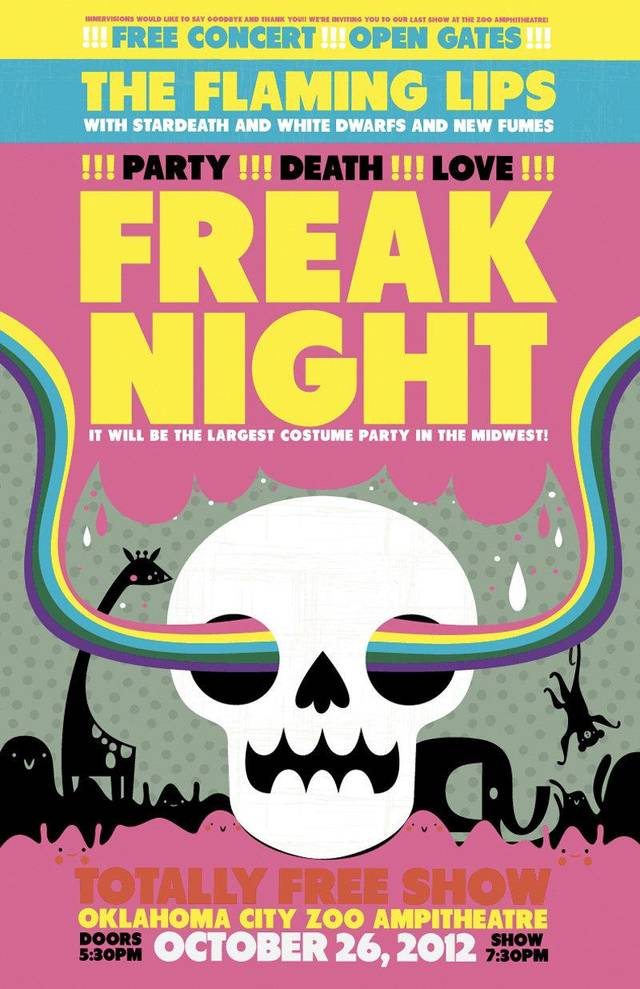 "The Flaming Lips' poster for ""Freak Night"" <strong></strong>"