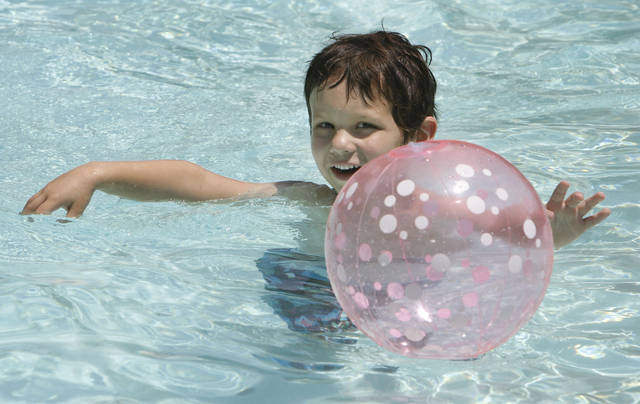 Jack enjoys some swim time during summer camp at the Temple B'nai Israel in Oklahoma City, OK, sponsored by the Jewish Federation of Greater Oklahoma City, Tuesday, June 26, 2012,  By Paul Hellstern, The Oklahoman