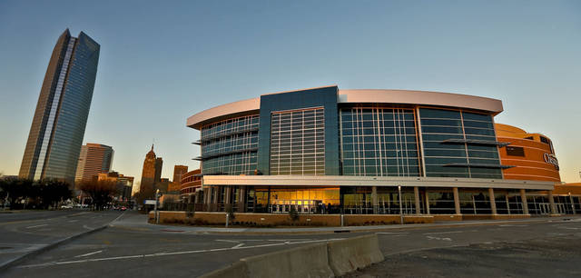 The new southwest entrance to the Chesapeake Energy Arena is seen Wednesday during the NBA basketball game between the Oklahoma City Thunder and the New Orleans Hornets at the Chesapeake Energy Arena. Photo by Chris Landsberger, The Oklahoman