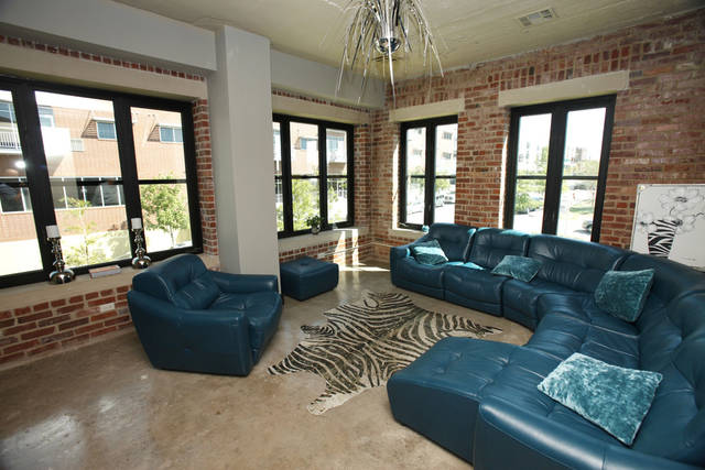 This is a living area in the Clark Building in downtown Oklahoma City, OK, Tuesday, September 25, 2012.  By Paul Hellstern, The Oklahoman