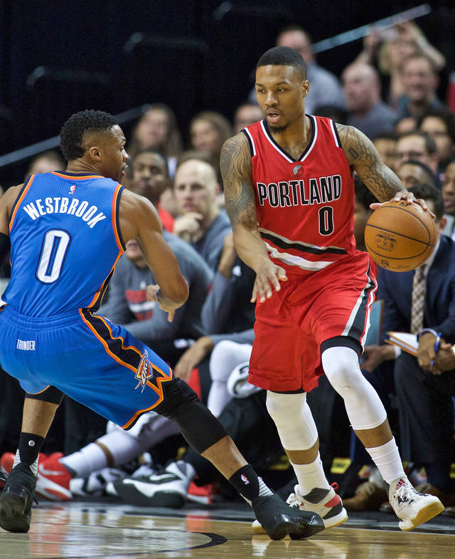 Portland Blazers Game: OKC Thunder: Damian Lillard's Late 3-point Barrage Stifles