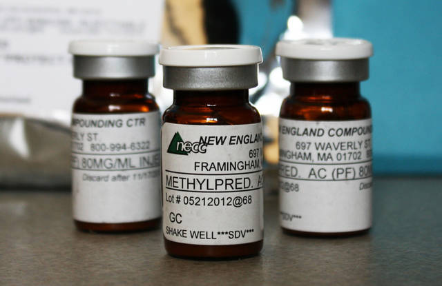 This photo provided Oct. 9, 2012, by the Minnesota Department of Health shows shows vials of the injectable steroid product made by New England Compounding Center implicated in a fungal meningitis outbreak that were being shipped to the Centers for Disease Control and Prevention in Atlanta from Minneapolis. About 17,700 single-dose vials of the steroid sent to 23 states have been recalled. The outbreak involves 10 states, including Minnesota. (AP Photo/Minnesota Department of Health)