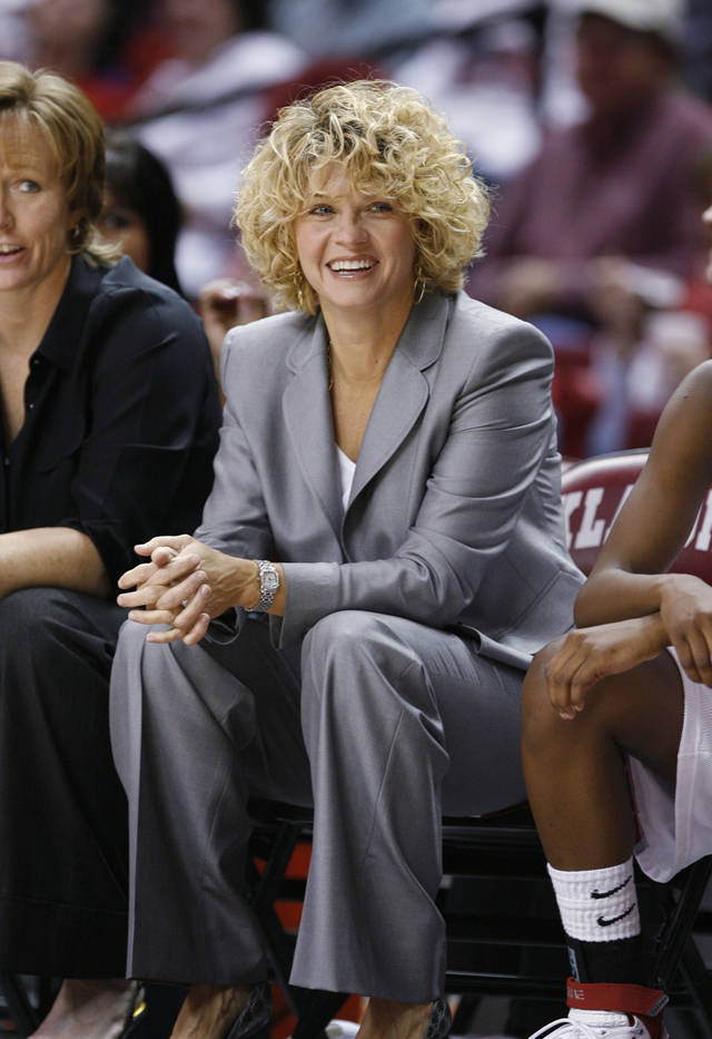 Head coach Sherri Coale watches as the University of Oklahoma women's basketball team defeated Central Arkansas 121-48 at the Lloyd Noble Center in Norman, Oklahoma on Thursday, December 20, 2007.