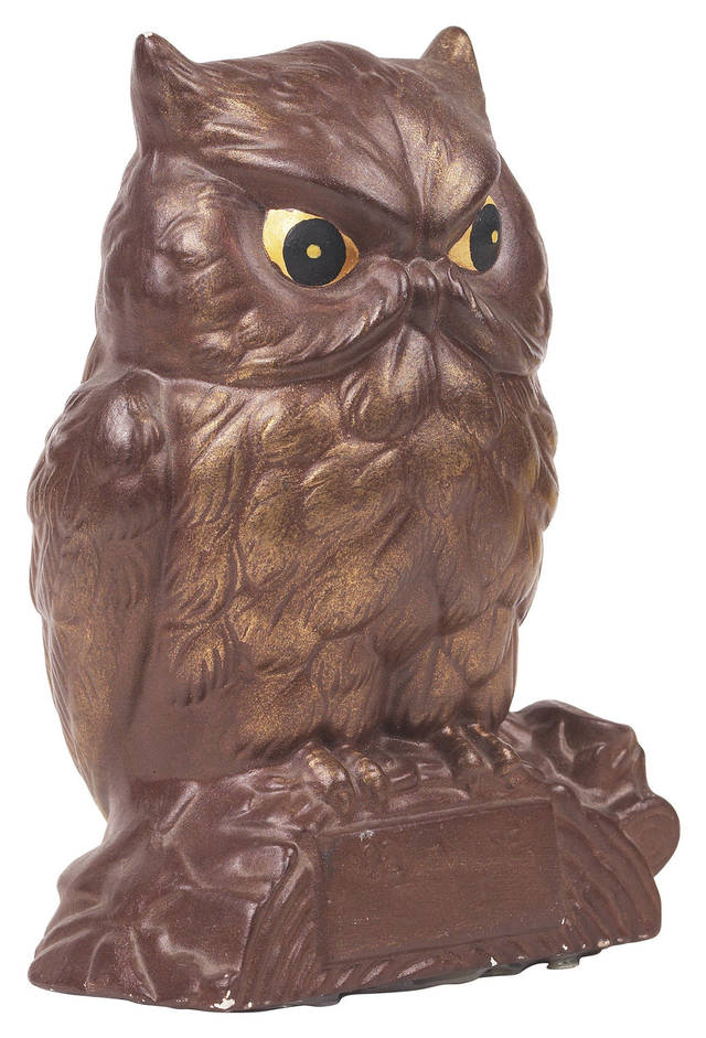 Owl decor may be on the outs, according to home decor experts. Photo provided