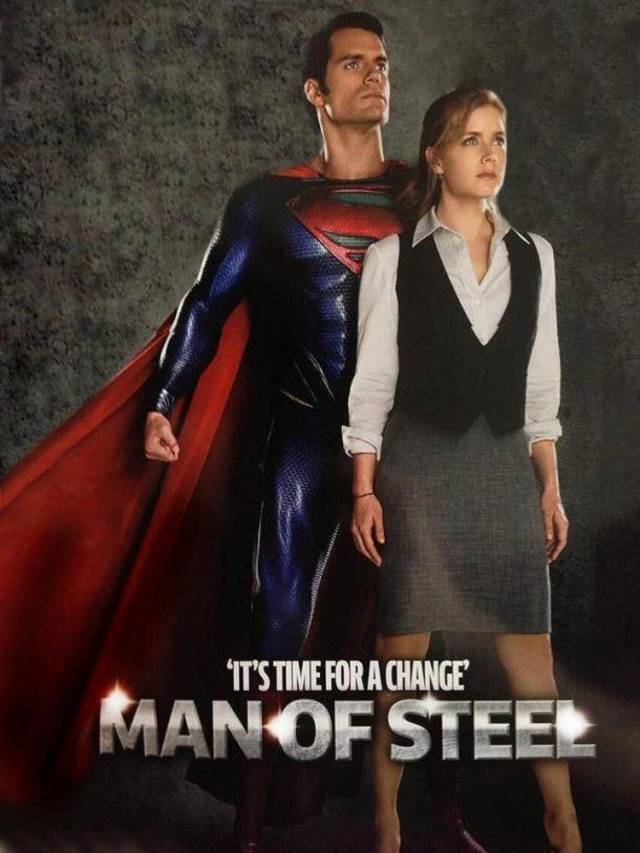Henry Cavill as Superman and Amy Adams as Lois Lane from Total Film magazine.